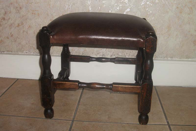 Leather stool recovered